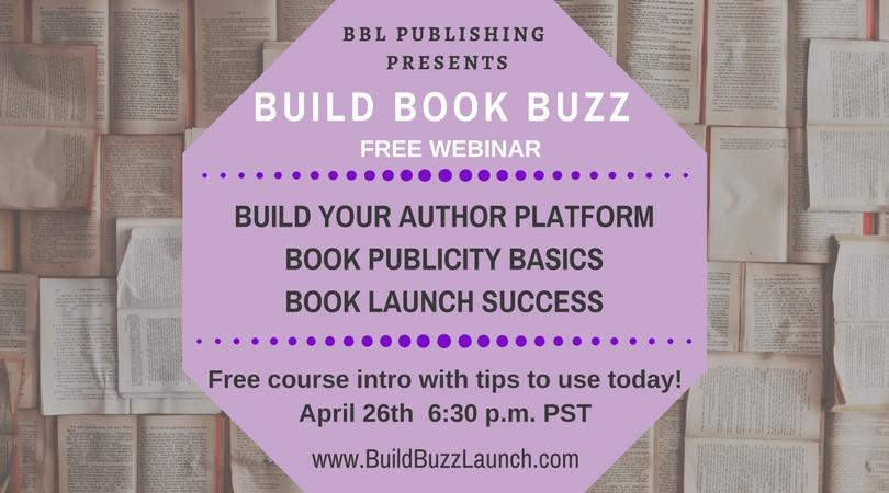 FREE BOOK BUZZ WEBINAR 4/26